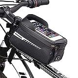 Bolsa Impermeable para Bicicleta, Bolsa de Bicicleta, Bolsa de Cuadro de Bicicleta, Funda Impermeable para Pantalla Táctil de Accesorios para Bicicletas, por Debajo de 6,5 Pulgadas