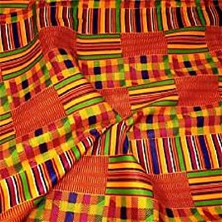 African Kente Fabric Fabric #18- One Yard Cotton 44