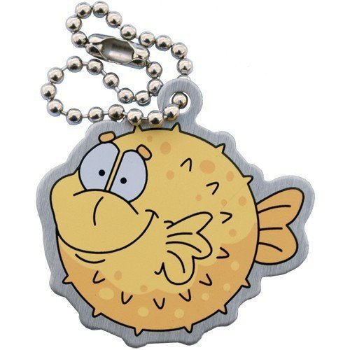 Pete the Puffer Fish Underwater Unterwasser TravelTag Geocaching Trackable Geocaching Geschenk Trackables, TB, Coin, Coins, mit Travelbug Geocoin