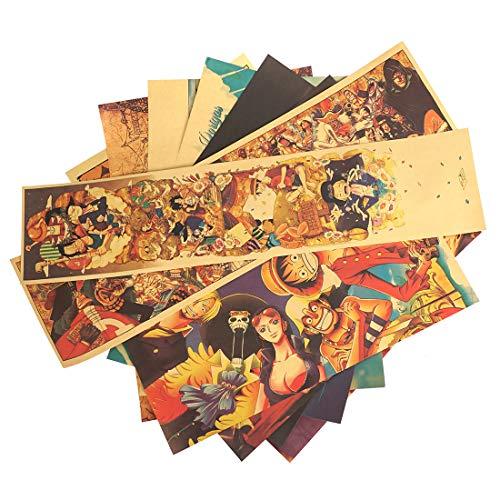 CosplayStudio Juego de póster vintage de One Piece, Monkey D. Ruffy, 10 unidades, 50 x 35 cm
