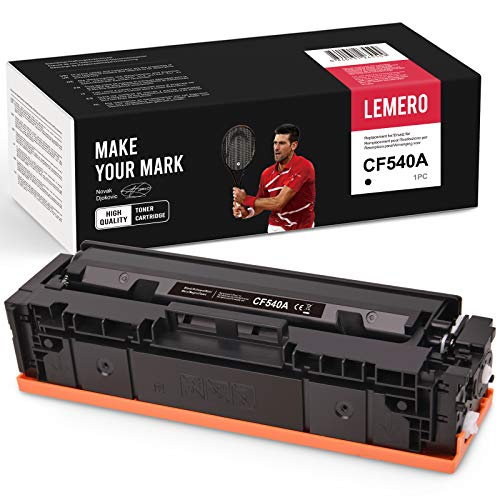LEMERO Toner Kompatibel für HP 203A CF540A für HP Color Laserjet Pro M254nw M254 M254dw MFP M281FDW M281 M281CDW M281FDN M280 M280NW Drucker,Schwarz