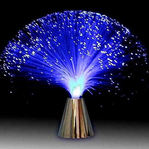 GEZICHTA - Lámpara LED de Fibra óptica, Funciona con Pilas, luz de Noche de Fibra óptica, Decoraciones de Mesa, cumpleaños, Navidad, Halloween, día de San Valentín, Cena, Fiesta