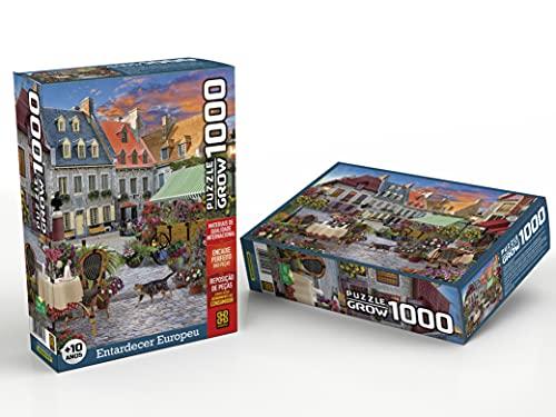 Quebra-cabeças Grow 1000 peças: Entardecer Europeu (exclusivo Amazon), Multicor