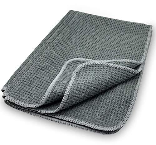 EliXito 3er Set Geschirrtücher 70x43 cm mit Aufhänger - Saugstark & Ultraweiche Küchenhandtücher - Microfaser Waffeltücher Küche Streifenfrei Geschirrhandtücher