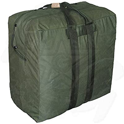 Army Surplus USGI Flyers Kit Large Duffle Bag Olive Drab Green Made in USA