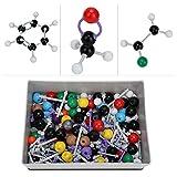 Cestbon 267 Piezas de Química Orgánica Kits Modelo Molecular Química Modelo Set Paquete moléculas orgánicas Modelos para el Profesor Estudiantes Clase de química científico,Burst