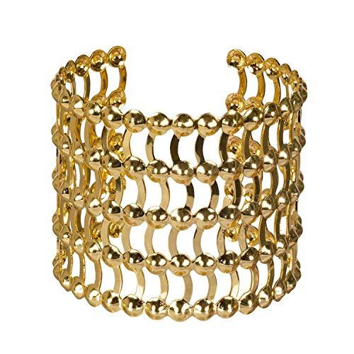 Boland 64421 - Armband Grace, gold, verstellbare Größe, für Damen, 5-reihiger Armreif, Armkette, Modeschmuck, Schmuckstück, Karneval, Fasching, Fastnacht, Mottoparty