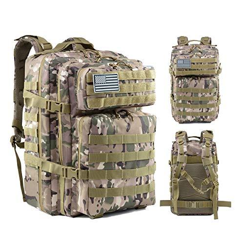 Delgeo Mochila Táctica Militar  45L Gran Capacidad Crossfit  Plegable Impermeable Supervivencia