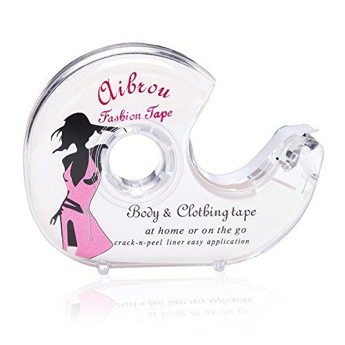 Aibrou Fashion Tape Doppelseitiges Klebeband Unsichtbarer Kleber für Kleid Damen Bekleidung Body BH mit Tiefer V Ausschnitt 5 Meter1