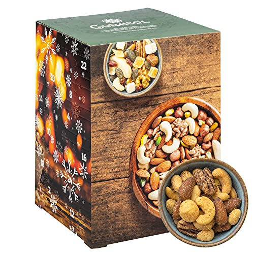 Corasol Premium Nuss-Mix Adventskalender XL 2021 mit 24 verschiedenen Nussmischungen zum Knabbern & Snacken (720 g)