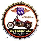 DiiliHiiri Cartel de Chapa tapón de Botella decoración Vintage Americano de Metal (Route 66...