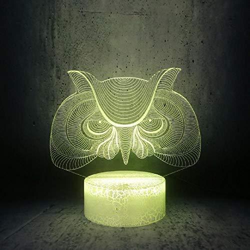 Vreemde Uil Grote Lelijke Gezicht Nachtlampje Grappige Lamp Cartoon Dier Vogels Hoofd Kinderen Vakantie Geschenken, Telefoon Bluetooth Afstandsbediening Kleuren