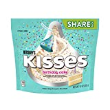 Includes One (1) 9 Ounce bag of HERSHEY'S kisses birthday Cake flavored white creme candy share pack Candy bag of birthday cake with sprinkles flavored creme candy perfect for snacking or sharing with friends, family members, classmates and co-worker...