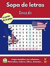 Sopa de letras: en inglés - para aprender a partir de 8 años (adaptado también para adultos y mayores) - Gran formato (Spanish Edition)