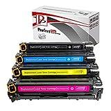PerfectPrint Cartucho de tóner Compatible de Repuesto para Canon I-Sensys LBP-7100Cn 7110CW MF-8230cn 8280CW 731(Negro/Cian/Magenta/Amarillo, 4-Pack)