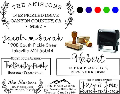 Personalized - Address Stamp - Customized Stamp - Self-Inking Return Address Mail 3 Lines Custom Address Stamper Wedding Invitation Stamp
