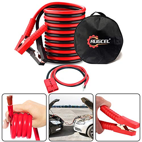 Best Price RUGCEL WINCH 3-Gauge Permanent Installation kit Jumper Battery Cables with Quick Connect ...