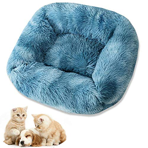 FNHS Soft Dog Beds Washable Orthopedic Dog beds Basket for Medium and Large Dogs, Non-slip Bottom Pet Beds Couch Cushion Dog Crate Mattress Bed for Medium and Large DogsSky blue-X Small