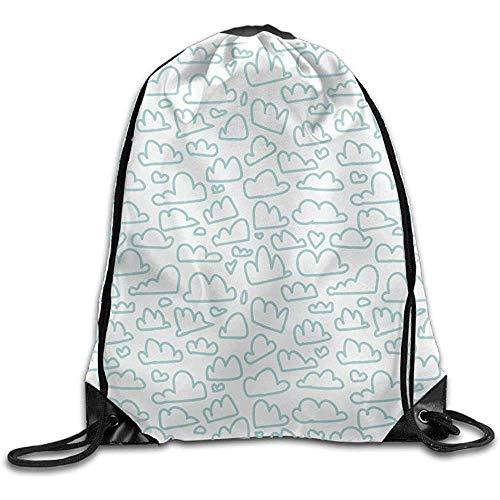 Drawstring Swim Bag,Gym Bag Backpack Clouds Best Gym Bags For Gym Athletic Running 12547