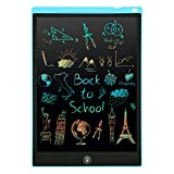 Tableta Escritura LCD Color, 12'' Tablet Escritura Pantalla Colorido Infantil PINKCAT Gráfica Pizarra Dibujo Niños Adecuada Juguete Educativo Regalo para el Hogar, Escuela, Oficina (Azul)