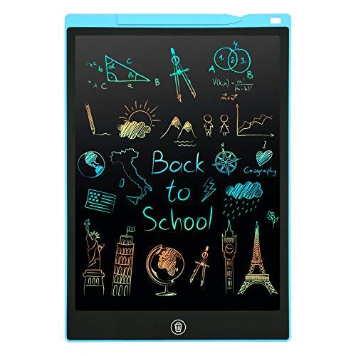 PINKCAT LCD Schreibtafel, 12 Zoll Bunte Bildschirm Schreibtablett, löschbarem Handschrift Block, Wiederholtes Schreiben Und Zeichnen für Mädchen & Jungen Geschenke