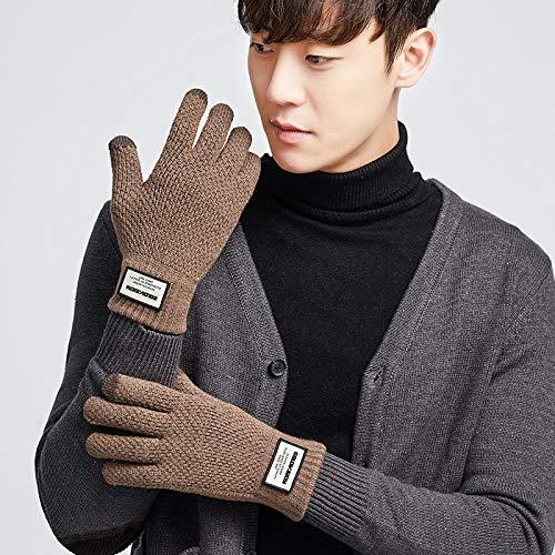 Gestrickte Handschuhe,Paar Touchscreen Handschuhe Männer Und Frauen Herbst Und Winter Outdoor Plus Samt Warmen Student Aus Gewirken Licht/Handschuhe