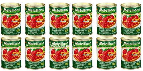 Polpa di Pomodoro -gewürfelte Tomaten- La Metelliana 12 x 400 Gramm