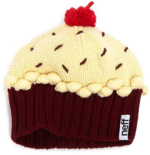 Neff Women's Cupcake Beanie Hat - Strawberry, One Size