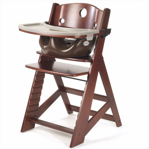 Why Should You Buy Keekaroo Height Right Highchair with Insert & Tray - Chocolate - Mahogany Base, O...
