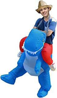 Inflatable T-rex Dinosaur Rider Costume Cosplay Party Dress