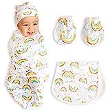 bozdy SwaddleMe Blanket Baby Swaddle Blanket Wrap Set-Infant Sleep Sack Adjustable Wings Soft Cotton Baby...