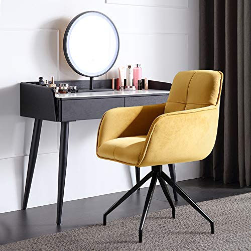 Light Luxury Home Study Office Chair Student sedentary Comfortable Desk seat Anchor Rotating Chairs (Yellow)