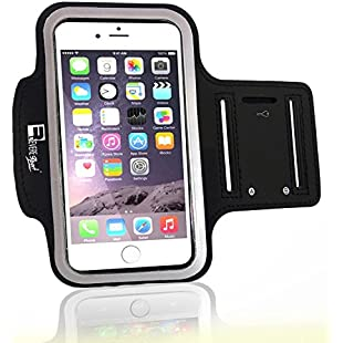 Customer reviews Premium iPhone 7 Plus / 8 Plus Armband with Fingerprint ID Access. Sports Arm band Phone Case Holder for Running, Gym Training & Outdoor Exercise