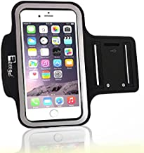 Premium iPhone 7 Plus/iPhone 8 Plus Running Armband with Fingerprint ID Access. Sports Phone Arm Case Holder for Jogging, Gym Workouts