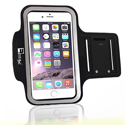 Premium iPhone 8 Running Armband with Fingerprint ID Access. Sports Phone Arm Case Holder for Jogging, Gym Workouts