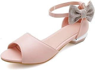 BalaMasa Womens ASL06372 Pu Block Heels