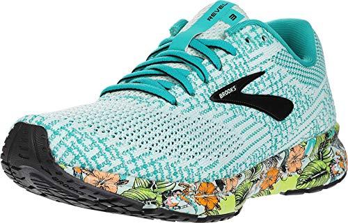 Brooks Revel 3 Zapatillas de correr para mujer, Multi (Mar/Negro/Verde), 37.5 EU
