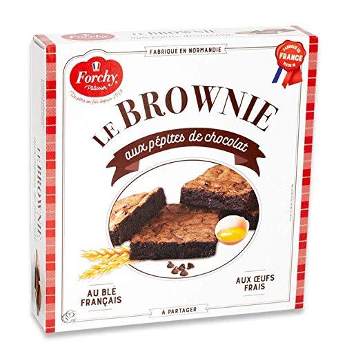 Forchy Torta Brownie con Gocce di Cioccolato Pronta da Servire - 1 x 285 Grammi