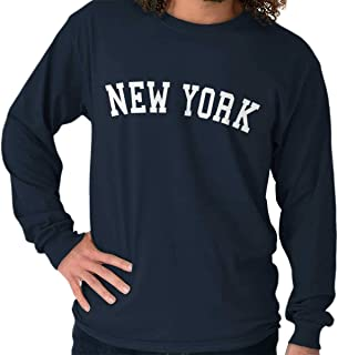 New York Athletic Student Gym NY State Gift Long Sleeve Tee