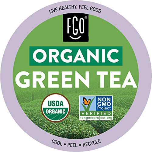Organic Green Tea K-Cup Pods | 24 Pods | Keurig Compatible | by FGO