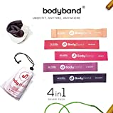 BodyBand™ Latex Resistance Bands for Exercise, 4 in 1 Combo for...