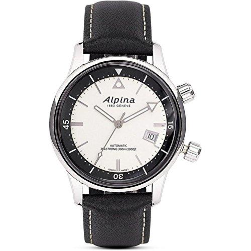 Alpina AL-525S4H6 Herenhorloge, automatisch horloge met rubberen armband