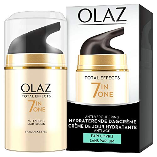 Olaz Total Effects - Crema de Tratamiento Diurno Hidratante sin Perfumes 50 ml