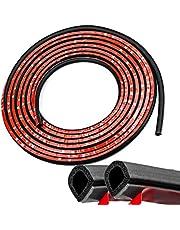 5 m rubberen afdichting, zelfklevend, hoge dichtheid, rubberen afdichting, deurafdichting, D-vormige deurafdichting, voor schuifdeuren, ramen, kasten en auto