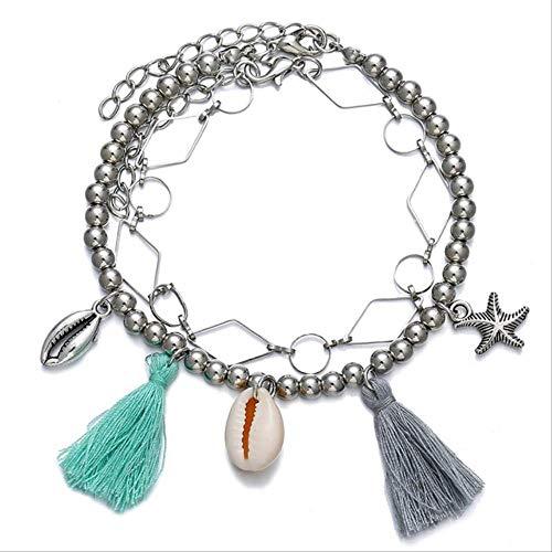 FSYX Cup Shell Starfish Dolphin Star Pendant Female Foot Chain Bohemian Bracelet Leg Beach Jewelry16