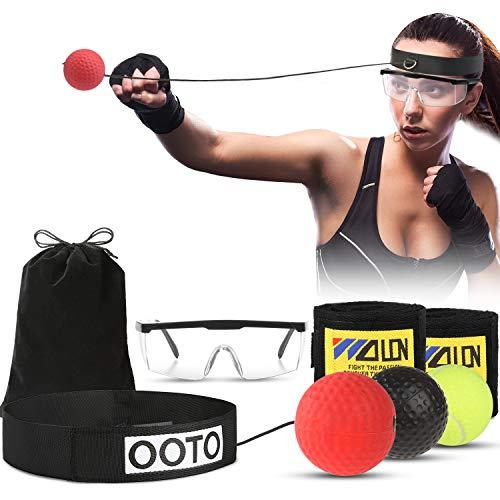 OOTO Bola de Boxeo Reflex Mejorada, Pelota de Entrenamiento