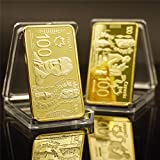 Beautiful Collection of Coins Canada Gold Bar Collectible 999.9 Gold Plated Canada 100 Pure Gold Banknote Metal Bars Metal Craffts for Dad/Boyfriends/Husband Gift Forever
