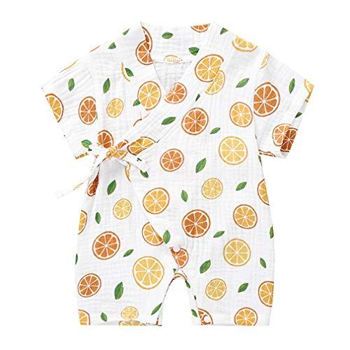 Kantenia Infantil Roupas para meninos Meninas Jumpsuit Romper One-Piece Robe Kimono Fios de algodão Kimono Outfit japonês Verão
