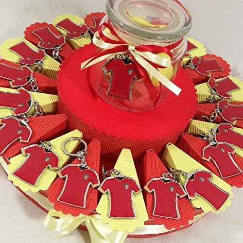 Portachiavi Maglia da Calcio BOMBONIERE per Comunione Compleanno Battesimo Bimbo (Torta 20 fette Roma)