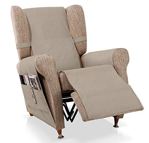 JM Textil Sesselschoner Relax GEA Größe 1 Sitzer (55 cm), Farbe Nerz